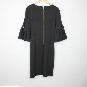Dkny Dresses - DKNY Black Ruffled Sleeve Shift Dress sz 16